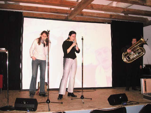 Ursula 'Sina' Bellwald | Erika Stucky | Ian Gordon-Lennox  am 16.01.2004 (Obere Mühle) © Thomas Müller